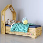 Кровать домик с изголовьем Симпл КD-S-001-Buk-L1084