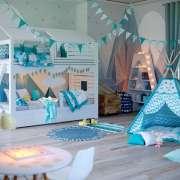2-ярусная кровать-домик для 2 детей Твин