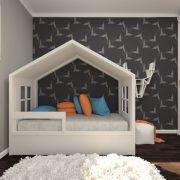 Детская кровать домик мага 1