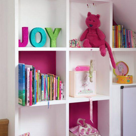 Идеи дизайна детской: открытые полки