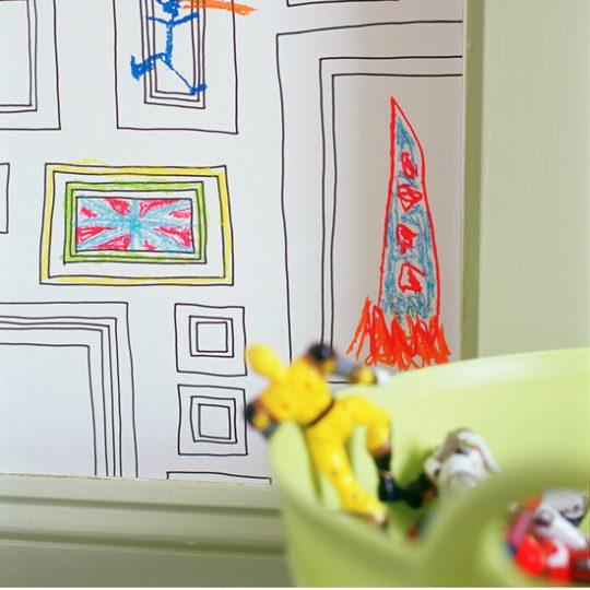 Идеи дизайна детской: рисование на стене