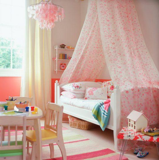 Идеи дизайна детской: навес над кроватью