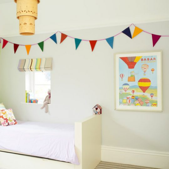 Идеи дизайна детской: флажки на стене