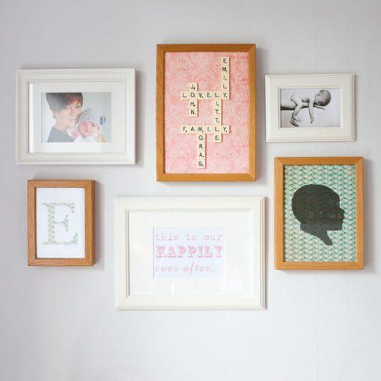 Идеи дизайна детской: рамки на стене