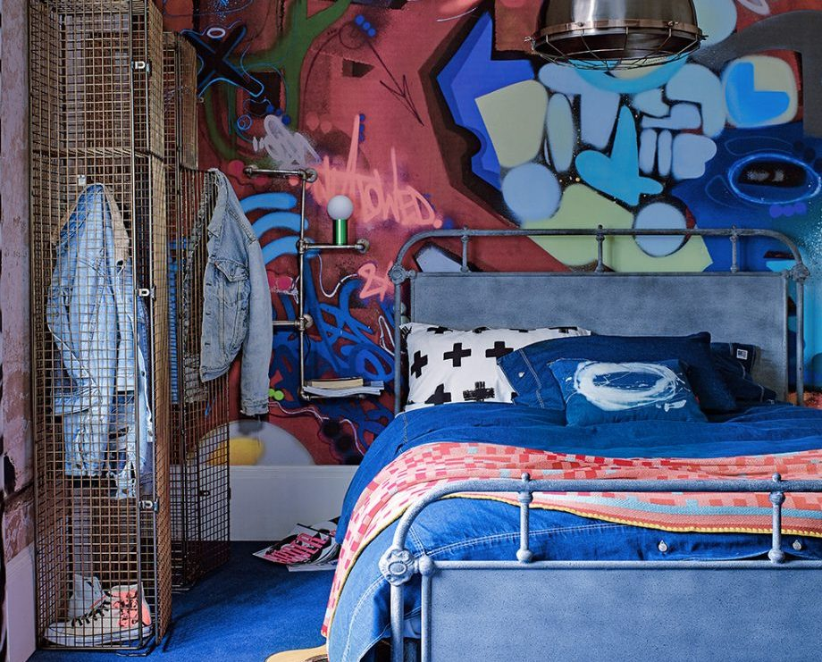 Дизайн комнаты для мальчика с элементами стрит-арт