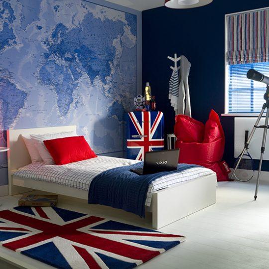 Дизайн комнаты для мальчика: географические карты