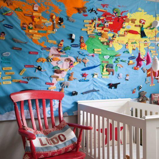 Дизайн комнаты малыша: географическая тематика