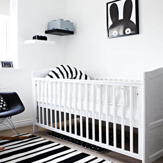 Дизайн комнаты малыша в чёрно-белой гамме