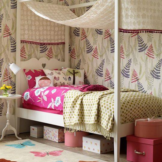 Идея декора детской: использование текстиля