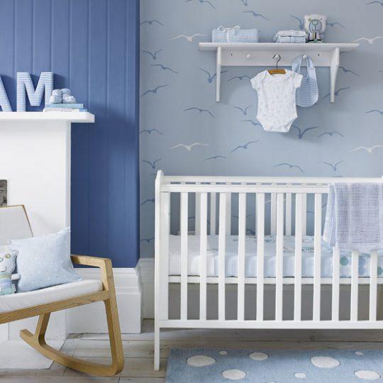 Идея декора детской: интерьер в голубом цвете