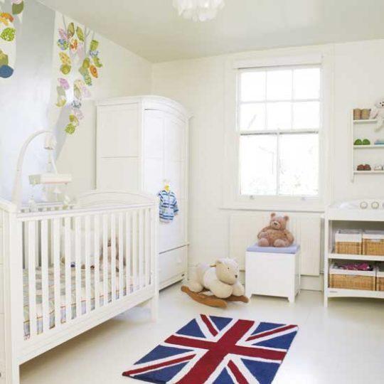 Идея декора детской: коврик в виде британского флага