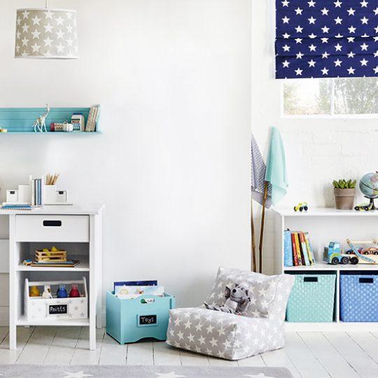 Идеи дизайна детской: корзины для хранения