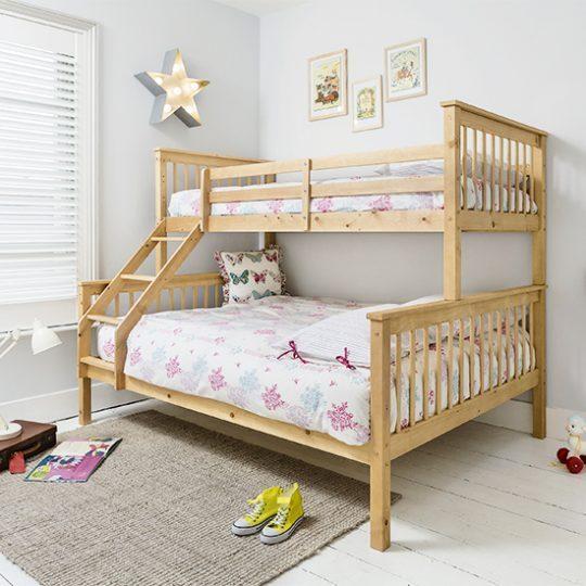 Идеи дизайна детской: двухуровневая кровать