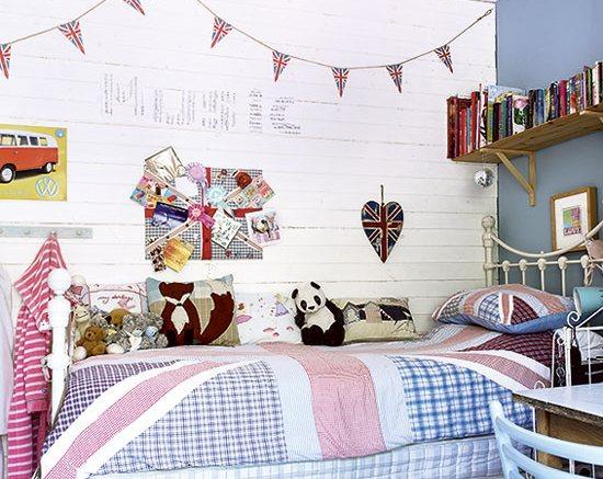 Декор стен в детской в британском стиле