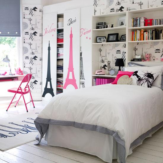Современный дизайн комнаты девочки в светлых тонах
