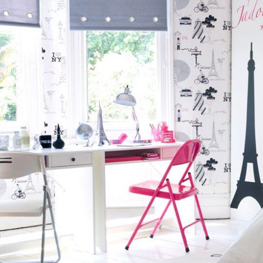 Современный дизайн комнаты девочки-подростка: туалетный столик
