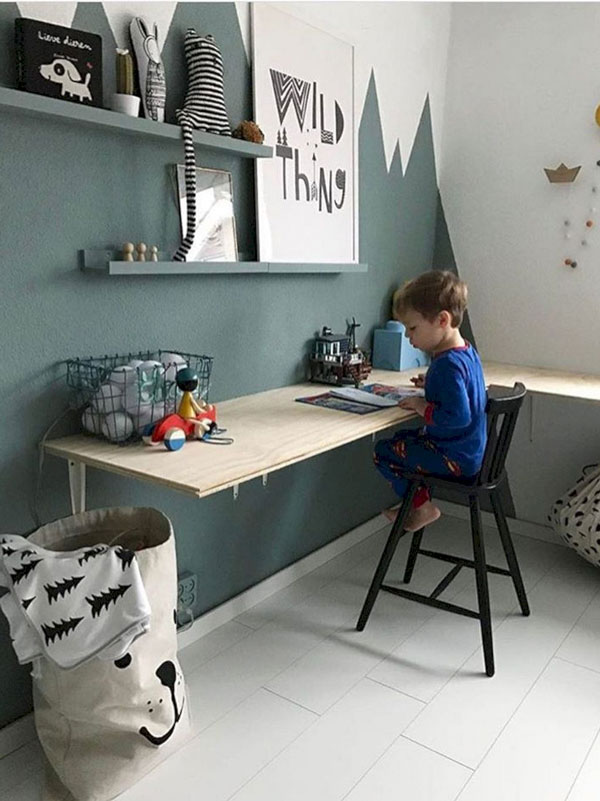 Акцентированный интерьер детской для мальчика