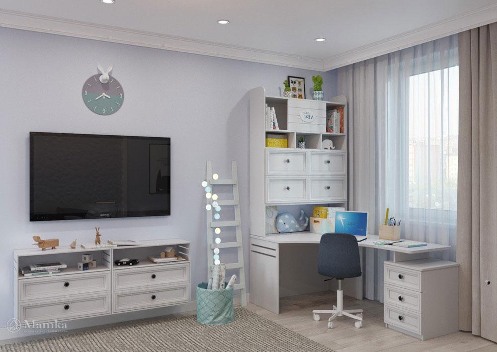 Интерьер детской комнаты для мальчика - комфорт и ничего лишнего 3