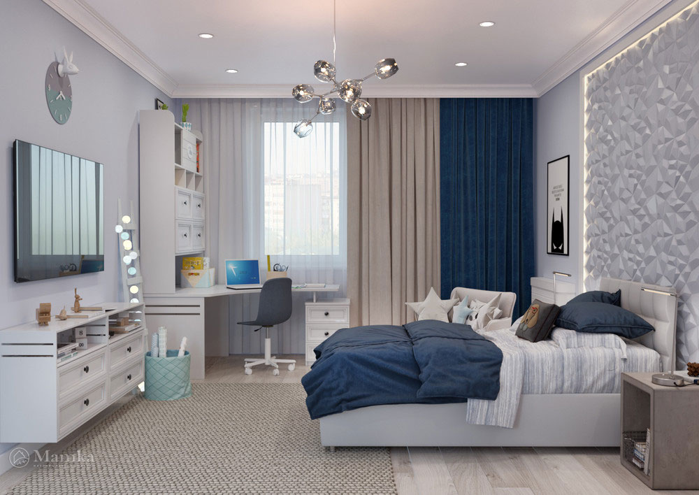 Интерьер детской комнаты для мальчика - комфорт и ничего лишнего фото 4