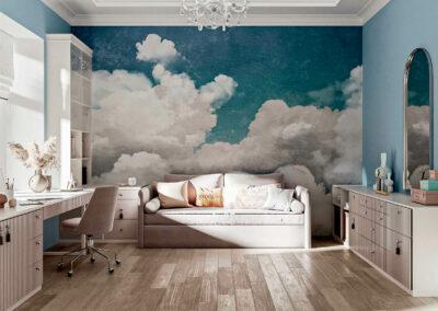 Мебель в бежевых тонах в детскую спальню девочки 9 лет — проект 5687