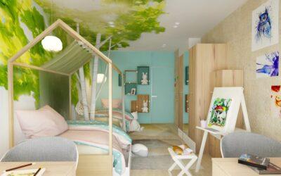 Сказочный лес — милая детская для двух творческих девочек