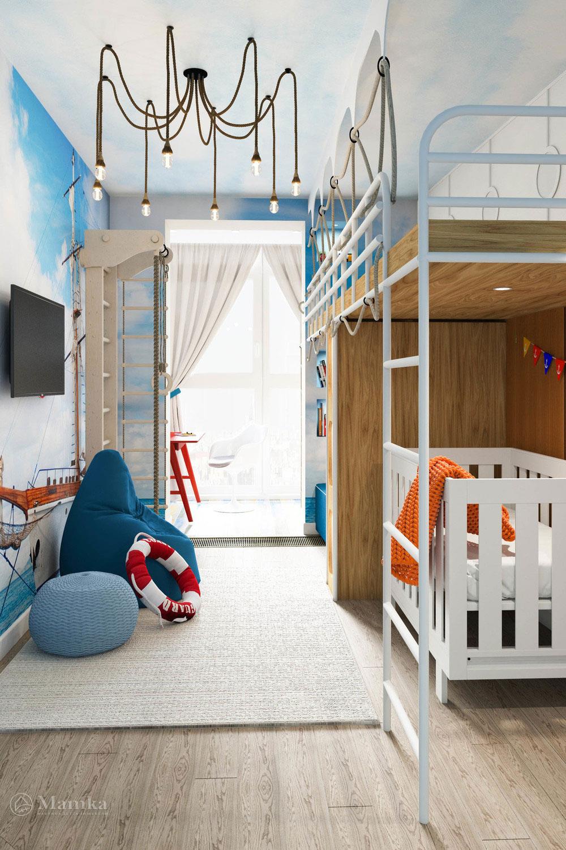 Детская игровая в морском стиле для активных детей 2