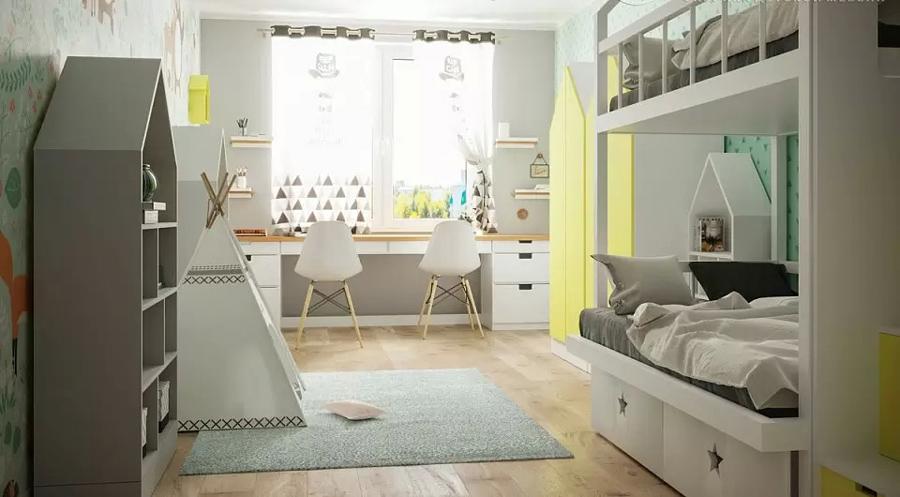 Детская комната для близнецов - советы по организации пространства 1