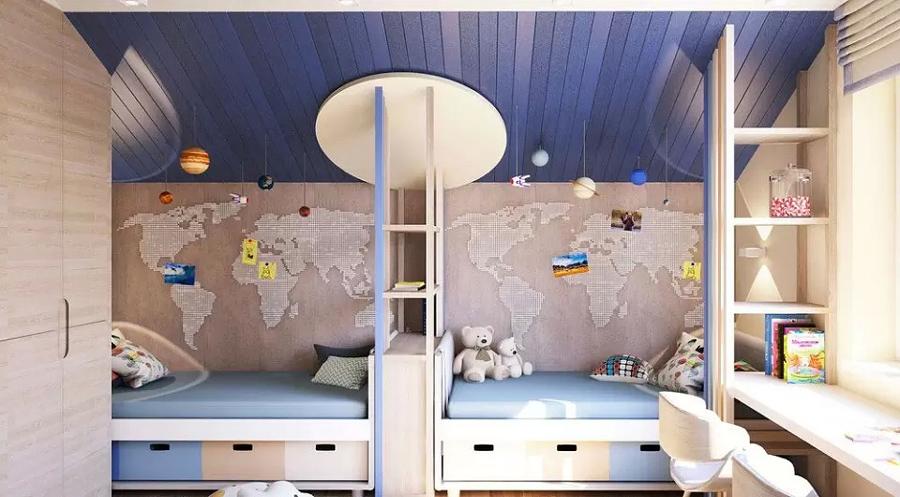 Детская комната для близнецов - советы по организации пространства 3