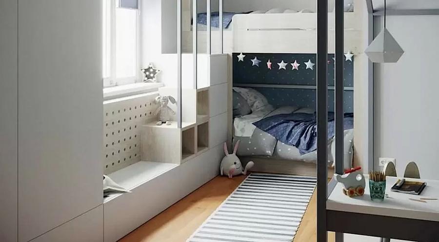 Детская комната для близнецов - советы по организации пространства 4
