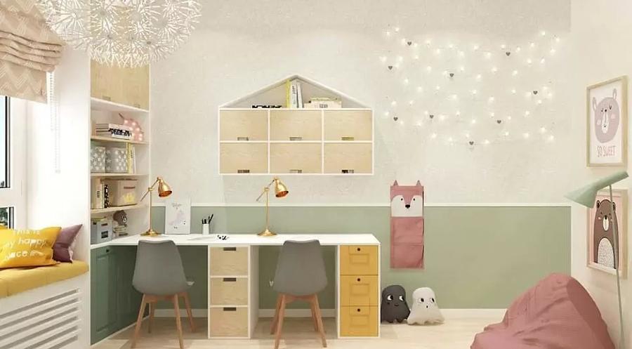Детская комната для близнецов - советы по организации пространства 5