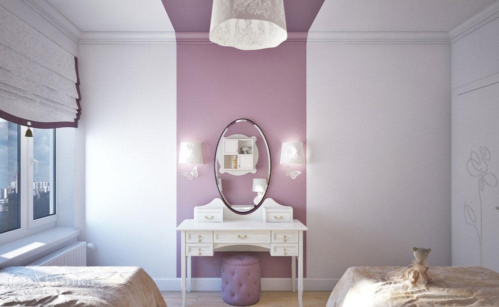 Дизайн детской комнаты для двух сестер с элегантной мебелью 3