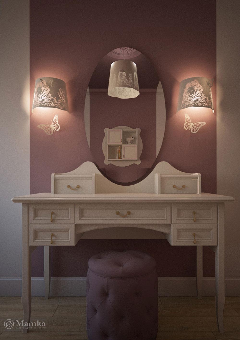 Дизайн детской комнаты для двух сестер с элегантной мебелью 4