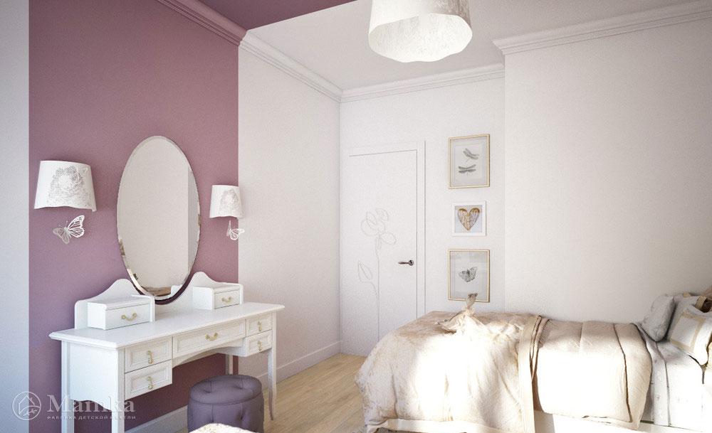 Дизайн детской комнаты для двух сестер с элегантной мебелью 5