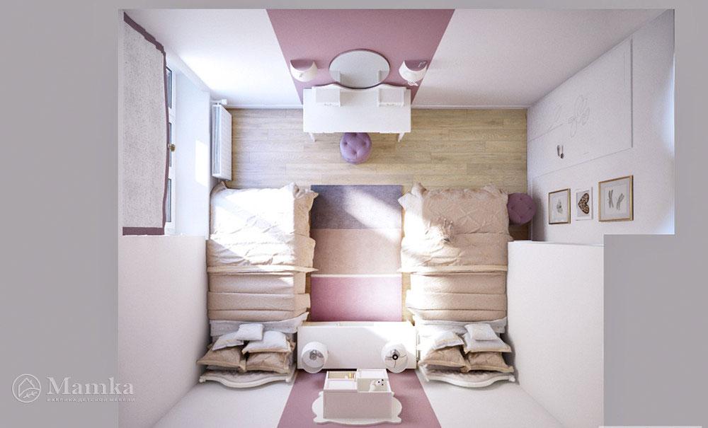 Дизайн детской комнаты для двух сестерДизайн детской комнаты для двух сестер
