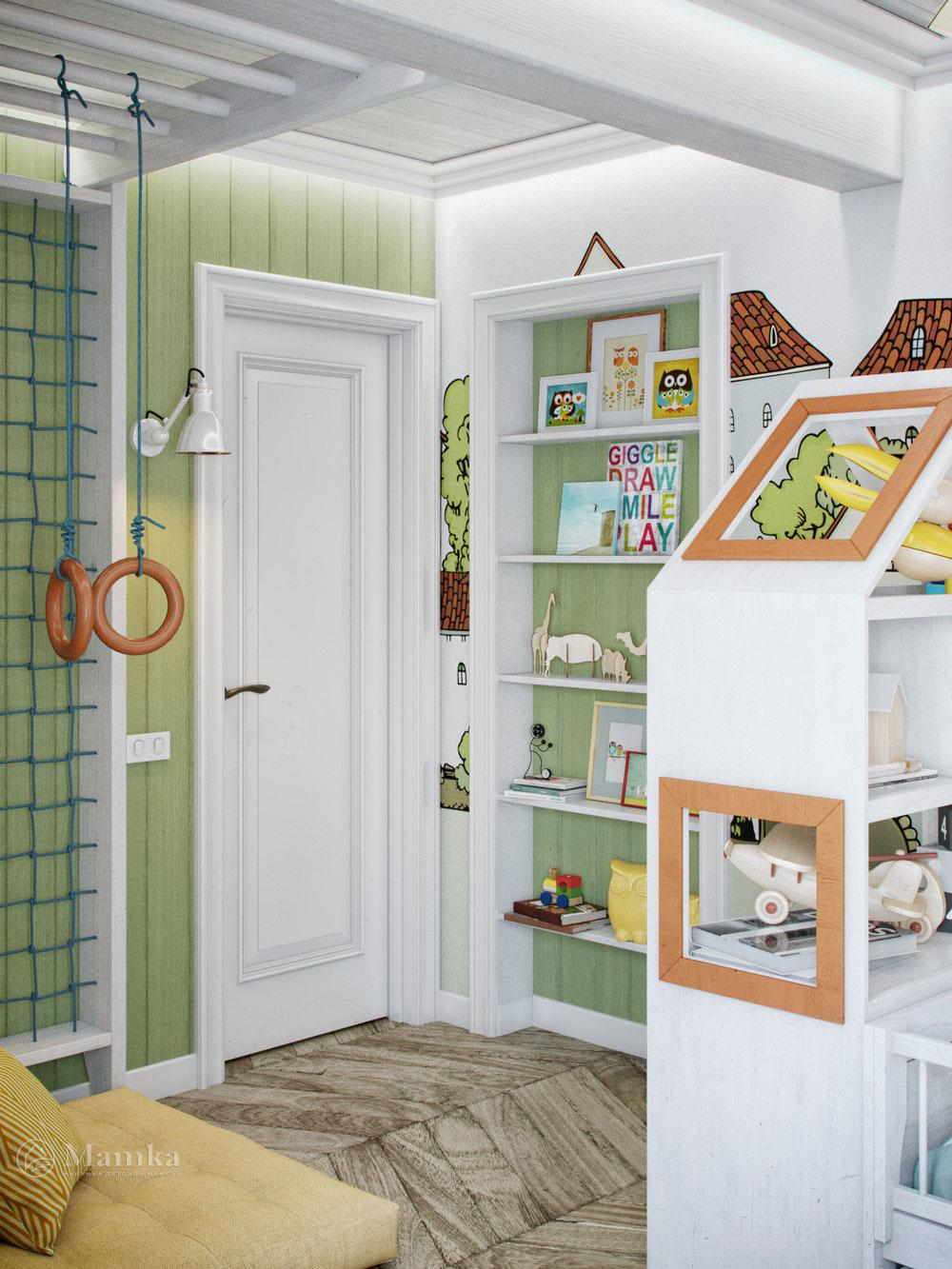 Интерьер детской комнаты для мальчика с дизайнерским оформлением