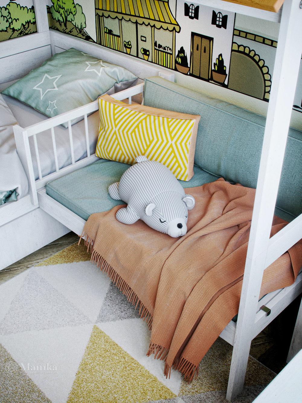 Детская комната для мальчика с волшебным оформлением 6