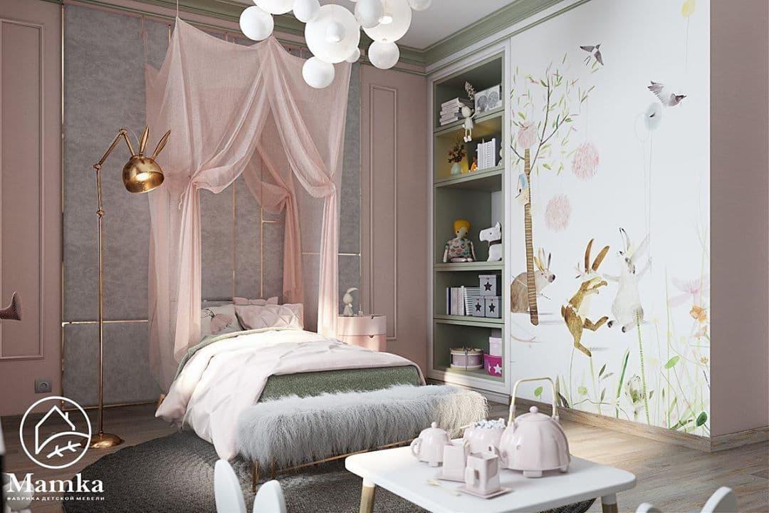 Детская комната для маленькой принцессы в стиле серых зайцев Тильда 1