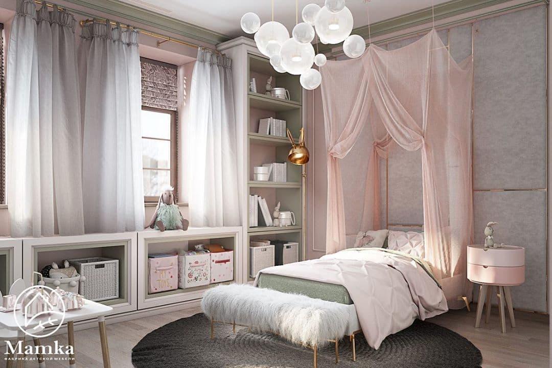 Детская комната для маленькой принцессы в стиле серых зайцев Тильда 2