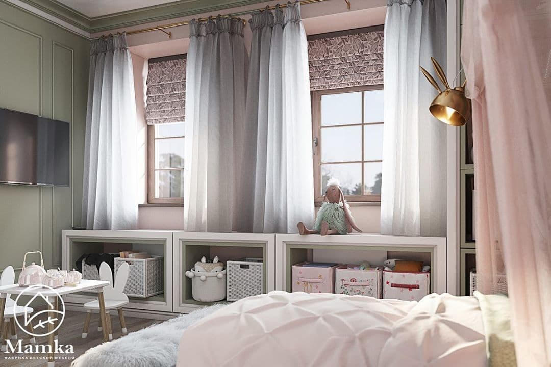 Детская комната для маленькой принцессы в стиле серых зайцев Тильда 3