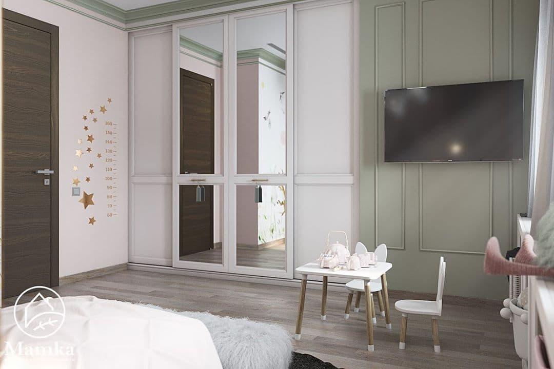 Детская комната для маленькой принцессы в стиле серых зайцев Тильда 4