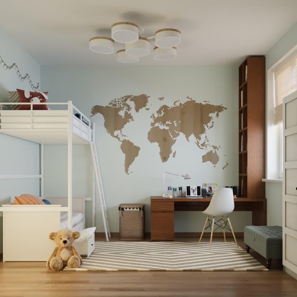 Детская комната для мальчика с лаконичным оформлением 1