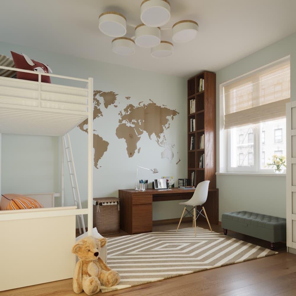 Детская комната для мальчика с лаконичным оформлением 4