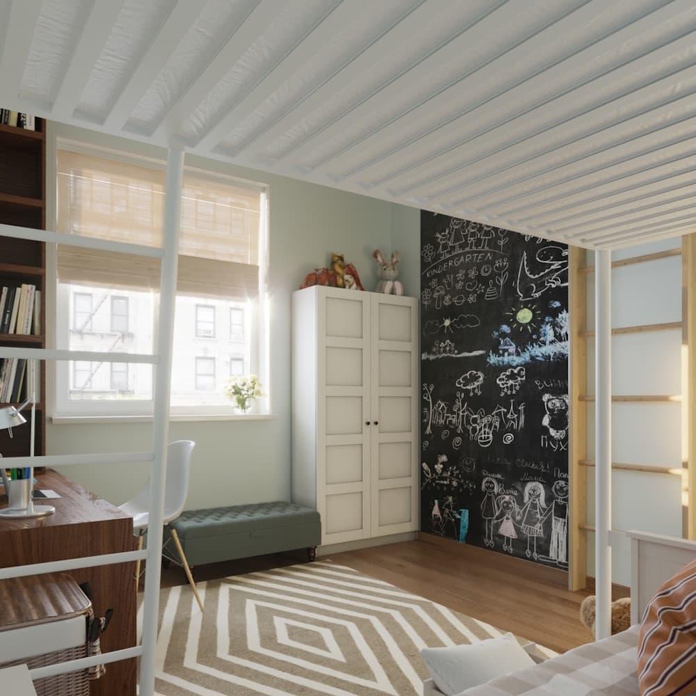 Детская комната для мальчика с лаконичным оформлением 5