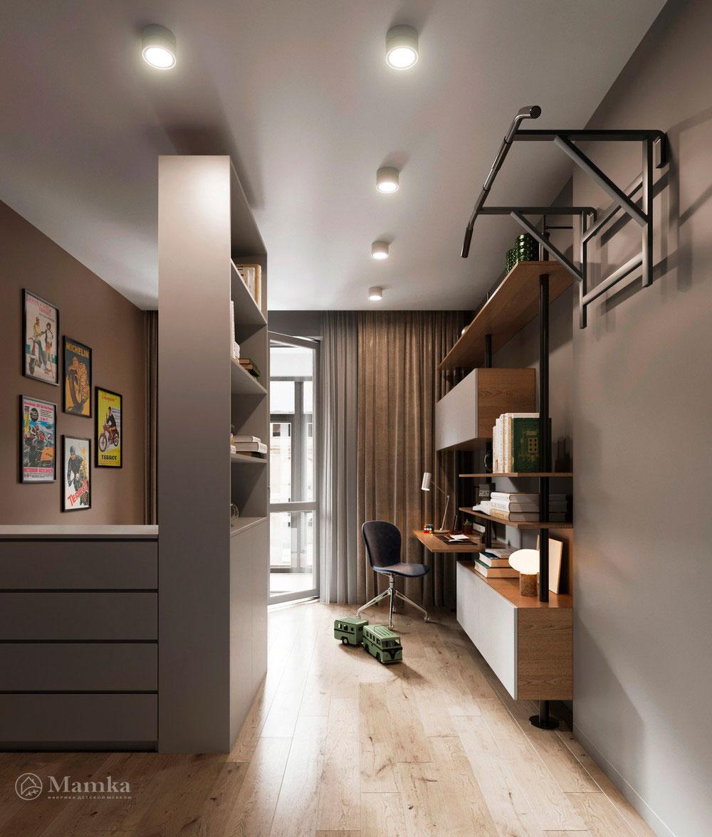 Детская комната для мальчика в стильном современном дизайне 2