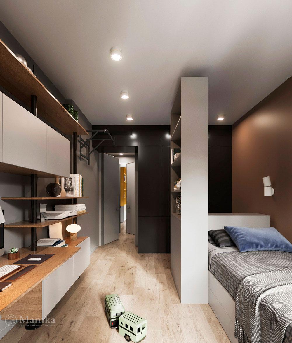 Детская комната для мальчика в стильном современном дизайне 4