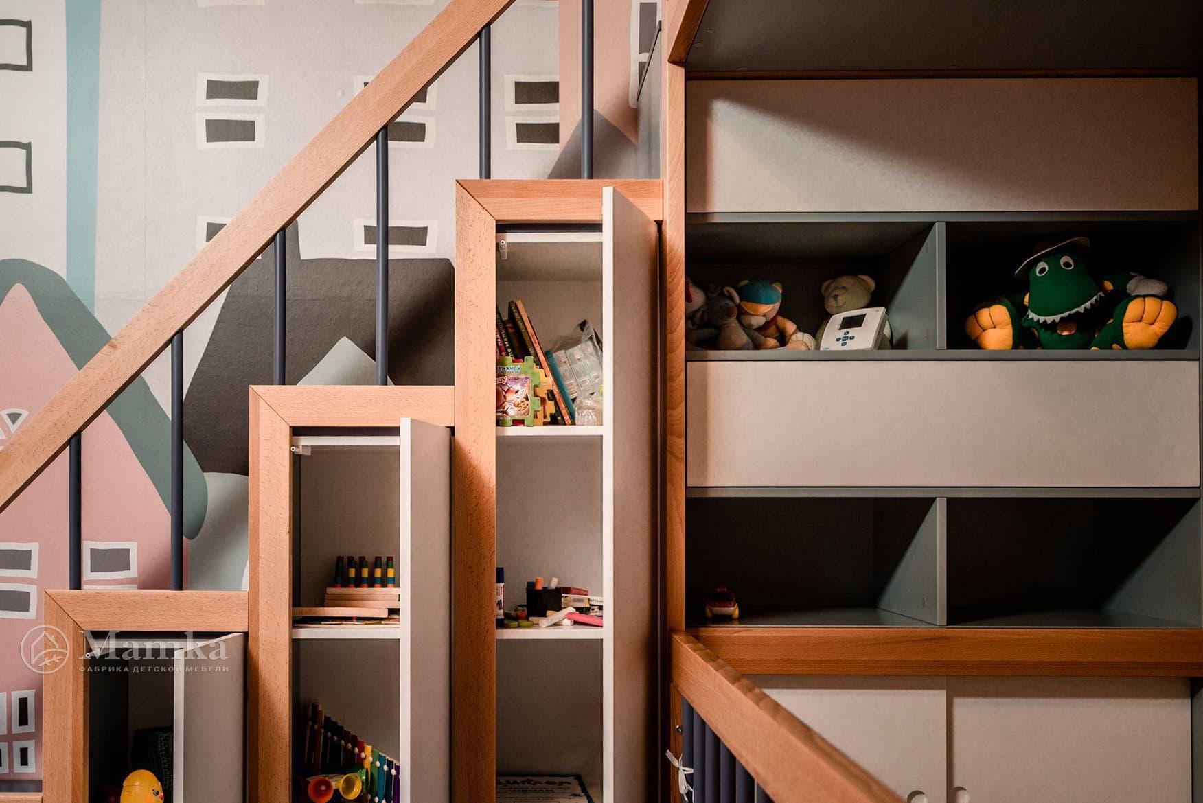 Детская комната в загородном доме на мансардном этаже фото 6