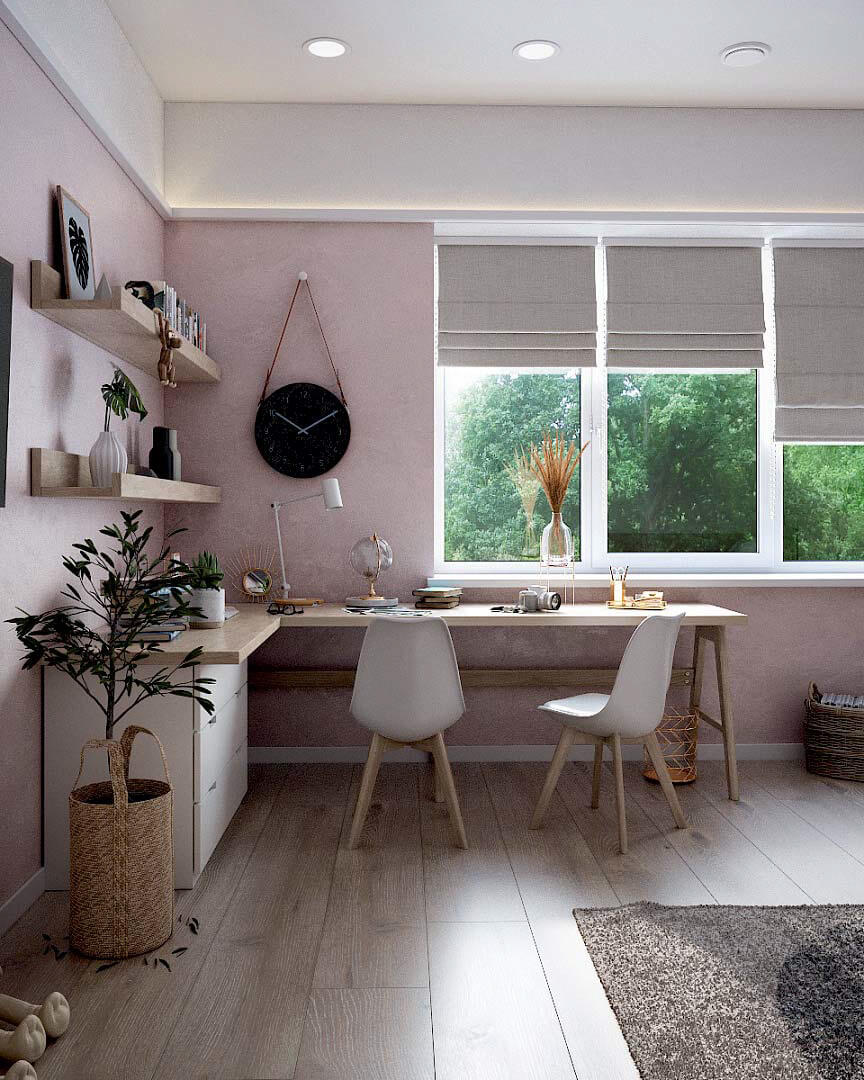 Детская мебель для комнаты девочки проект 3263-1