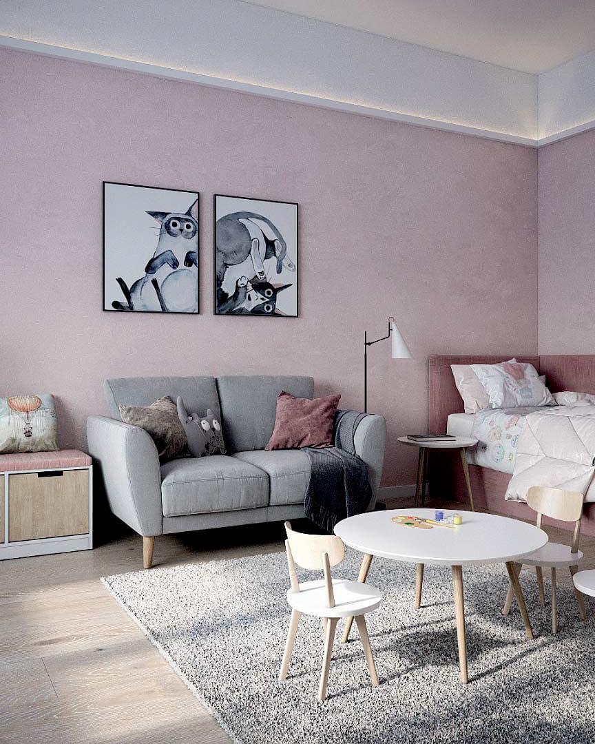Детская мебель для комнаты девочки проект 3263-2