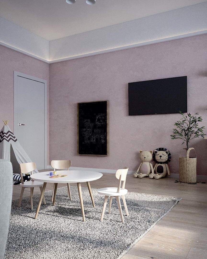 Детская мебель для комнаты девочки проект 3263-4