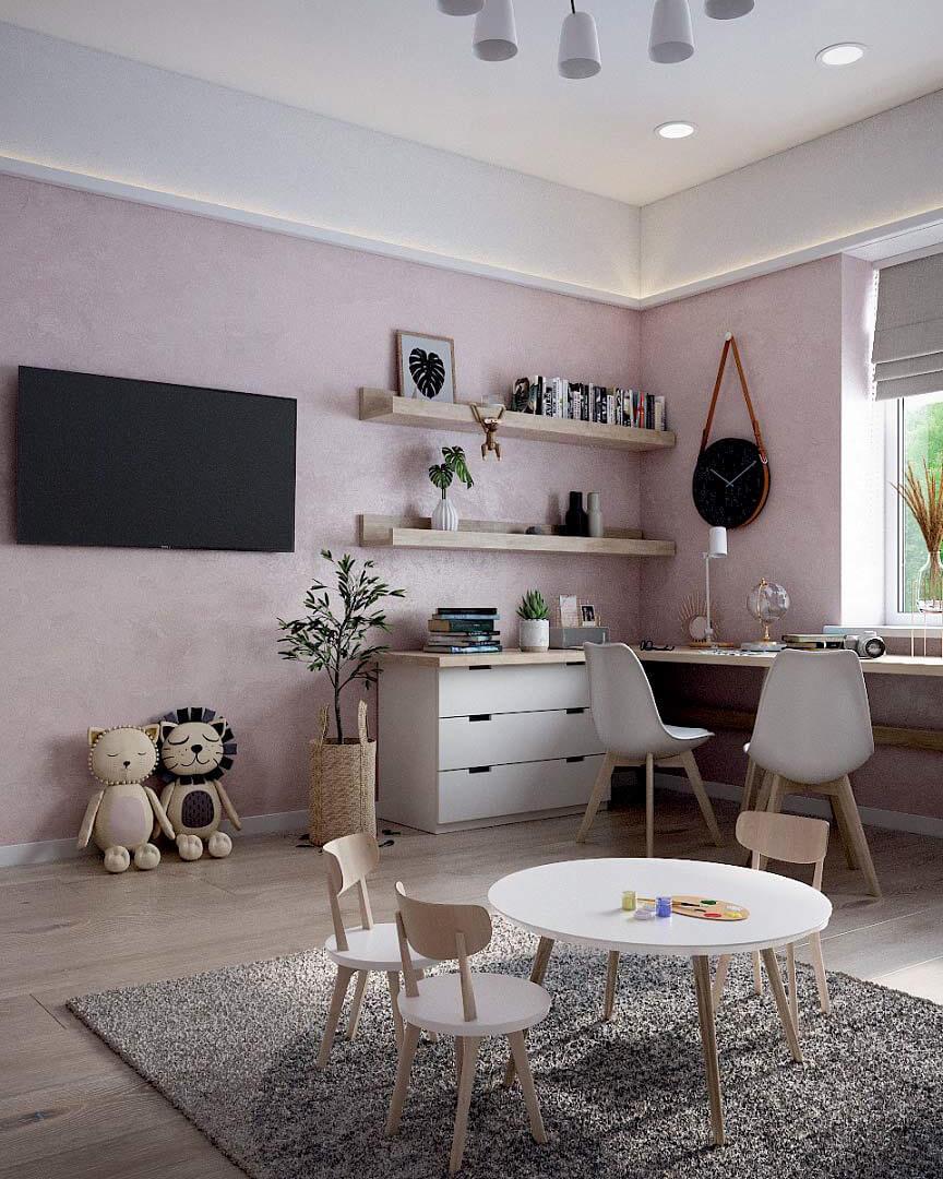 Детская мебель для комнаты девочки проект 3263-5